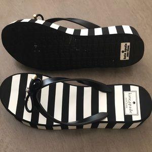 Kate Spade wedge flip flops